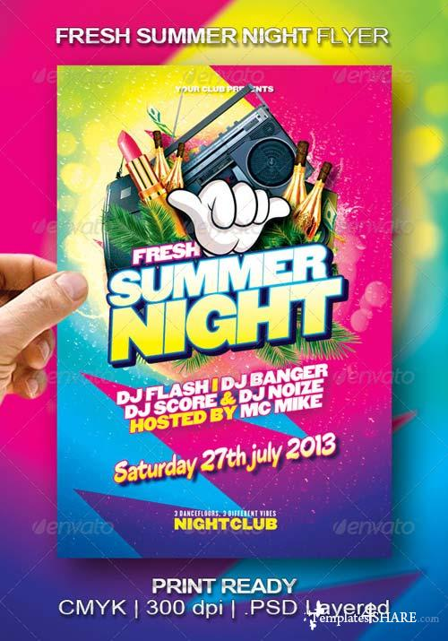 GraphicRiver Fresh Summer Night Flyer