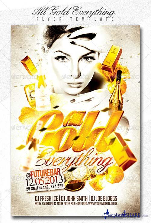 GraphicRiver All Gold Everything Flyer Template