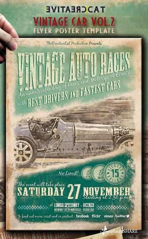 GraphicRiver Vintage Car Flyer/Poster Vol.2