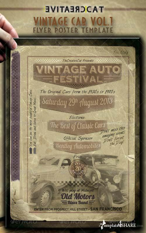 GraphicRiver Vintage Car Flyer/Poster Vol.1