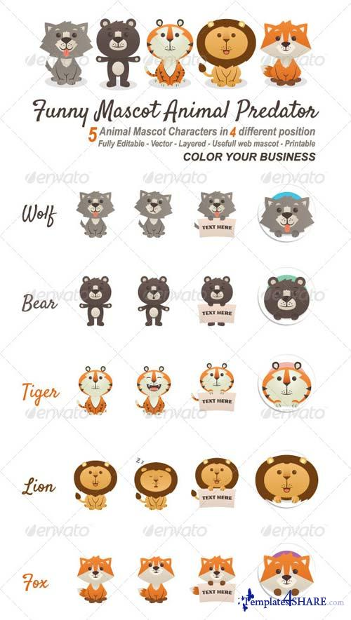 GraphicRiver Funny Mascot Animal Predator