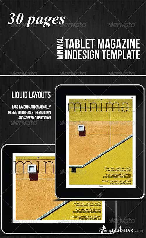 GraphicRiver Tablet 30 Pages Minimal Magazine