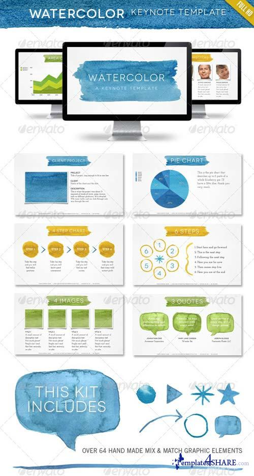 GraphicRiver Watercolor Keynote Template