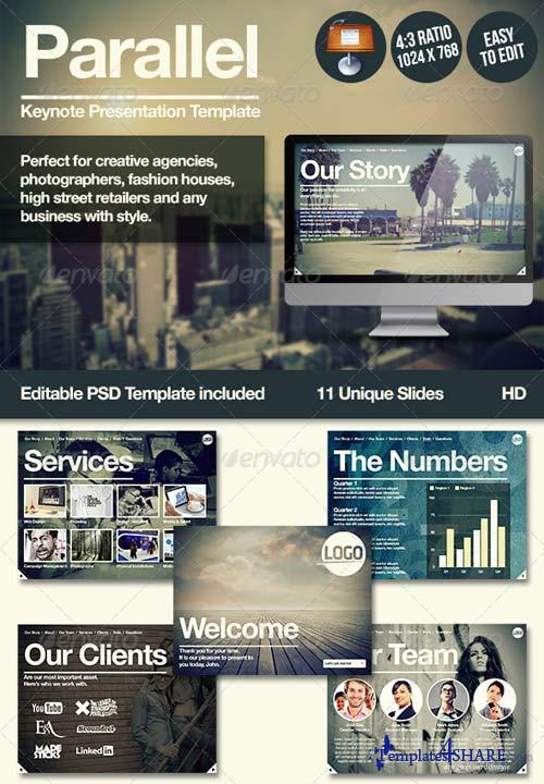 GraphicRiver Parallel Keynote Presentation Template
