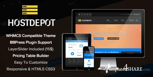 ThemeForest - HostDepot - Responsive WordPress Hosting Theme