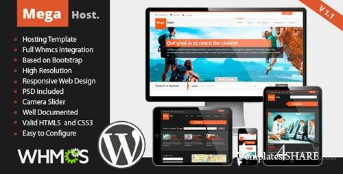 ThemeForest - MegaHost - Responsive Hosting - Wordpress Template