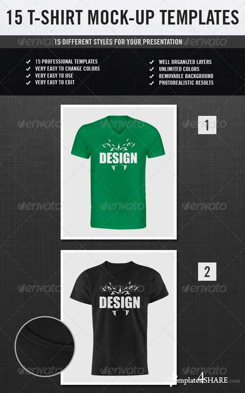 GraphicRiver 15 T-Shirt Mock-ups