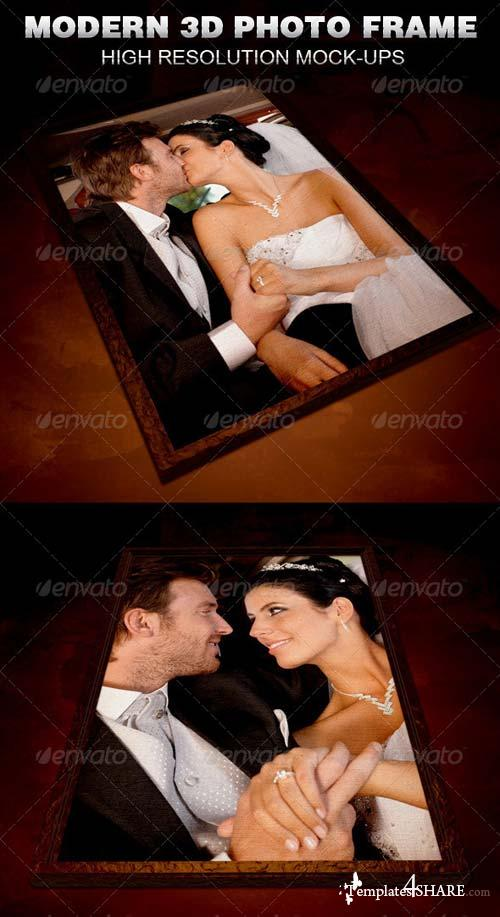 GraphicRiver Modern 3D Photo Frame Mockup Template