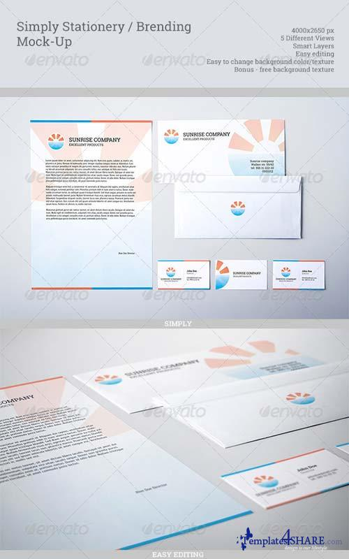 GraphicRiver Simply Stationery / Branding Mock-Up