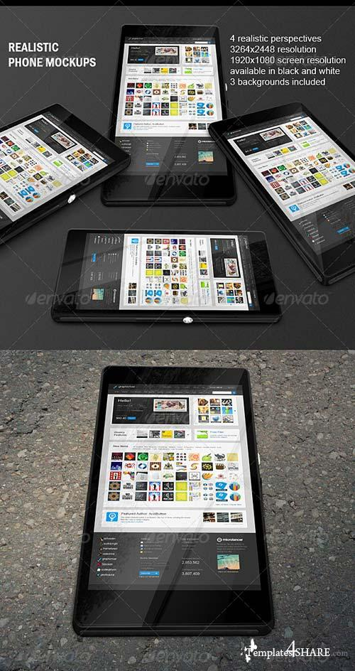 GraphicRiver Realistic Phone Mock-ups