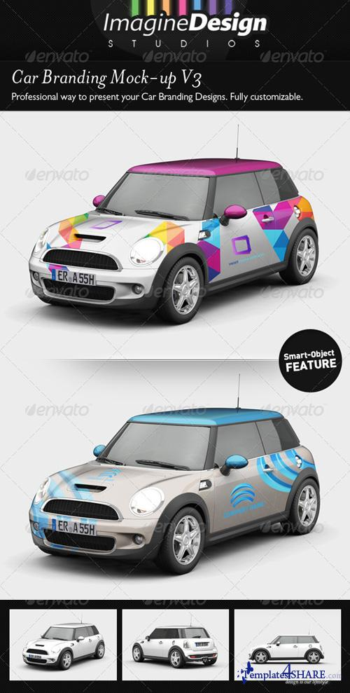 GraphicRiver Car Branding Mock-up V3