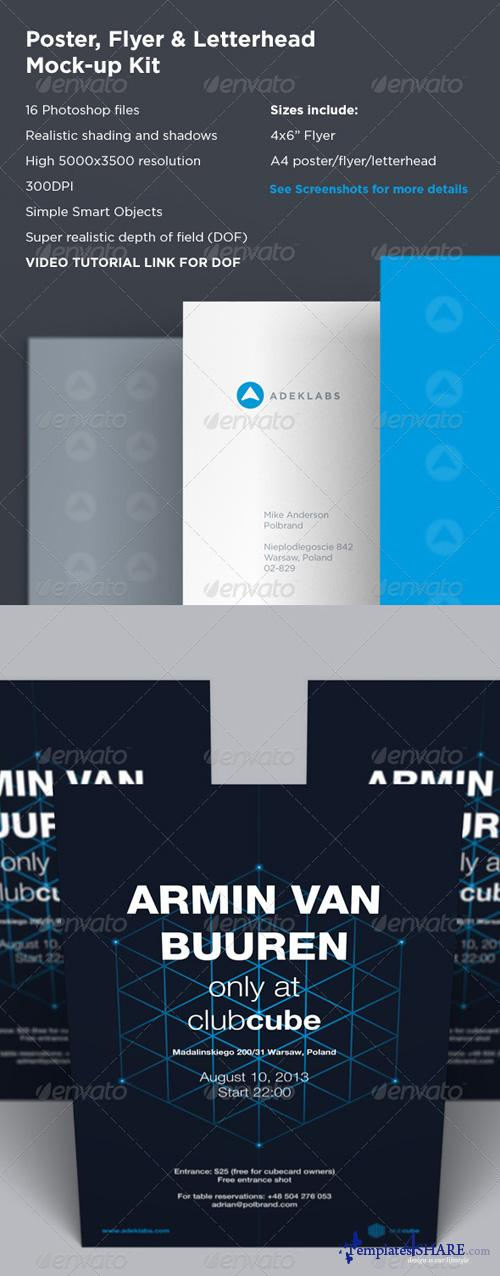 GraphicRiver Poster / Flyer & Letterhead Mock-up Kit