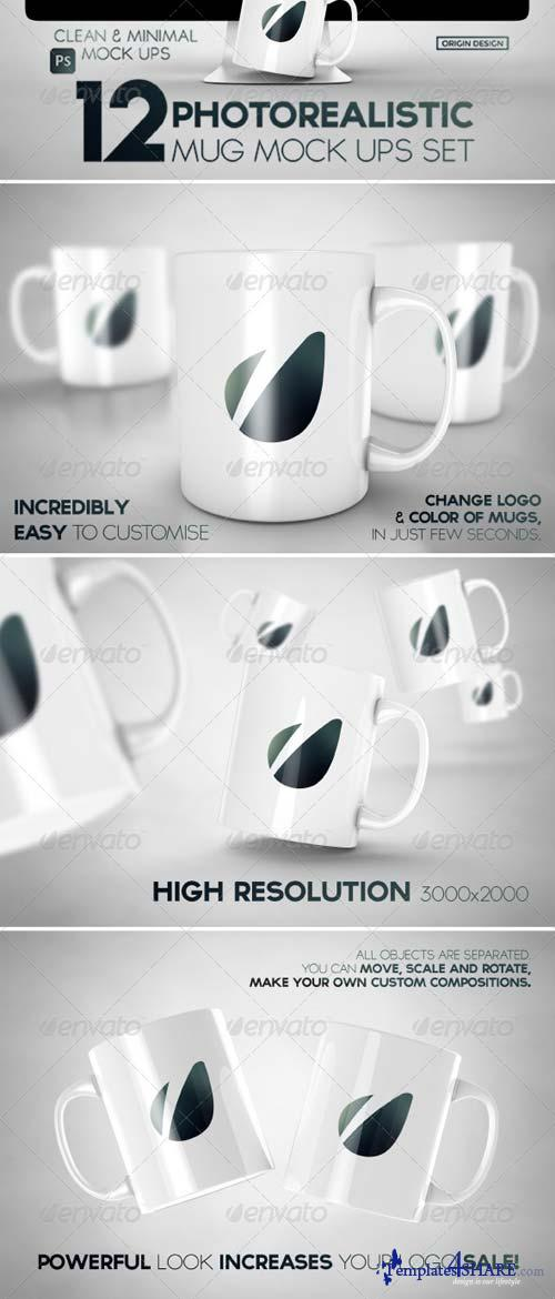 GraphicRiver 12 Photorealistic Mug Mock-Ups Set