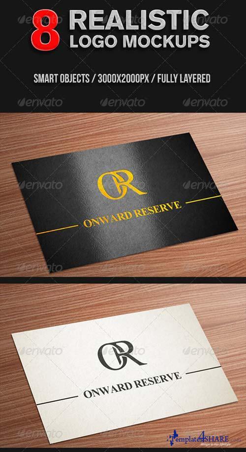 GraphicRiver 8 realistic logo mockups