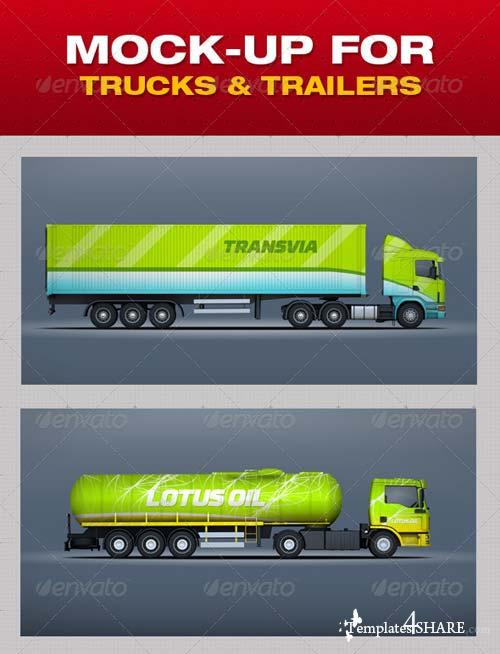 GraphicRiver Mock-Up For Trucks & Trailers