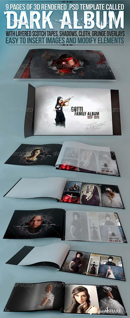 "GraphicRiver Album / Catalog Mockup ""Dark Album"""
