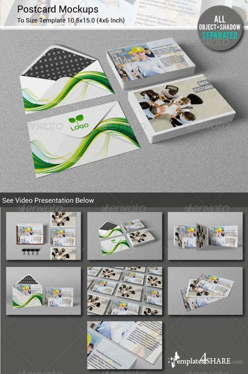 GraphicRiver Postcard / Invitation Mockups