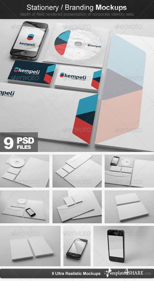GraphicRiver Stationery / Branding Mockups
