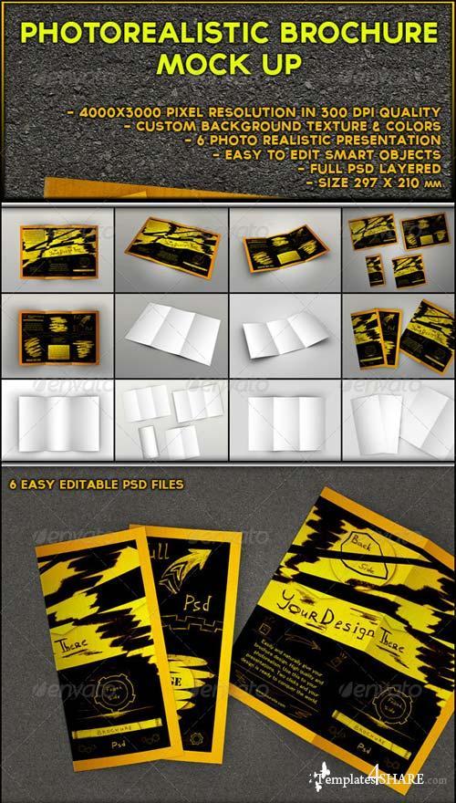 GraphicRiver Photorealistic Brochure Mock-up