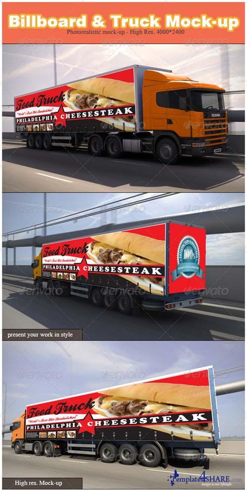 GraphicRiver Billboard & Truck Mock-up