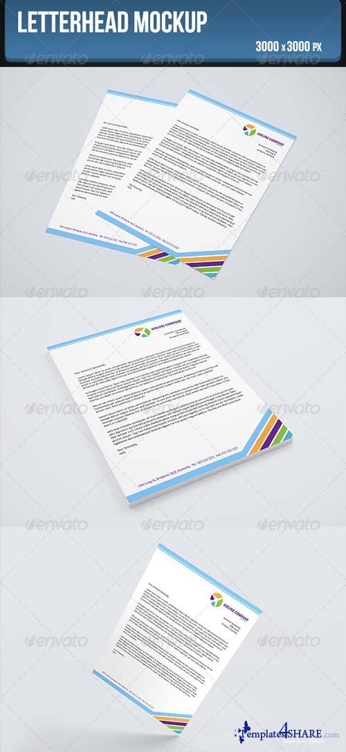 GraphicRiver Letterhead Mockup