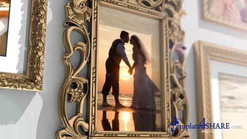 Golden Frames Photo Gallery - After Effects Project (Videohive)
