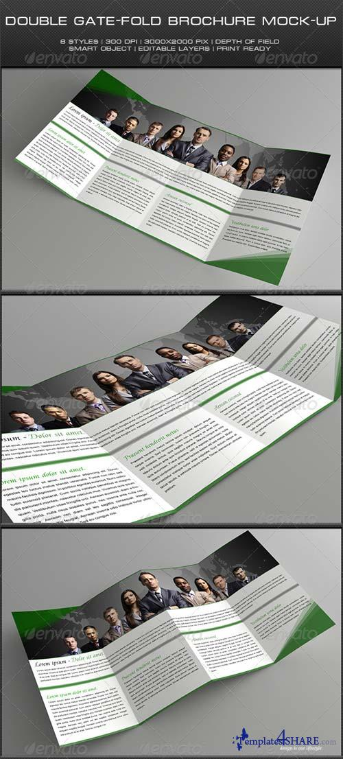 GraphicRiver Double Gate-Fold Brochure Mock-Up
