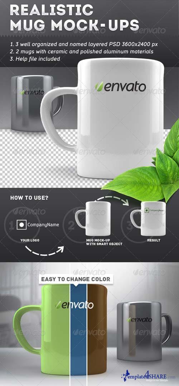GraphicRiver Realistic Mug Mock-Ups