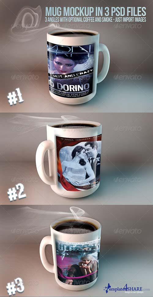 GraphicRiver Mug Mockups - 3 PSD files
