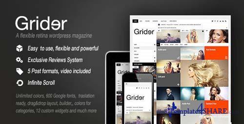 ThemeForest - Grider Retina Responsive Blog/Magazine