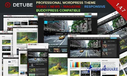 ThemeForest - deTube - Professional Video WordPress Theme