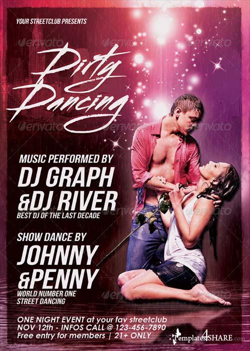 GraphicRiver Dirty Dancing Streetclub Flyer
