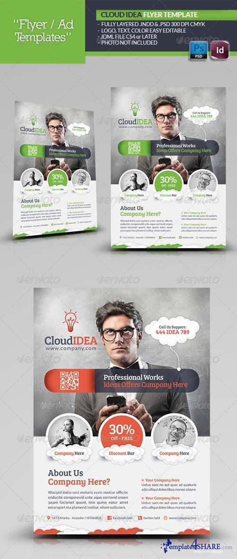 GraphicRiver Cloud Idea Flyer Template