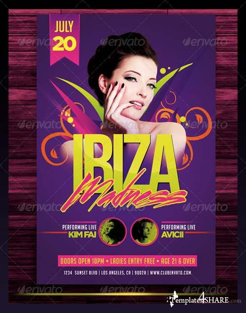 GraphicRiver Ibiza Madness Party Flyer