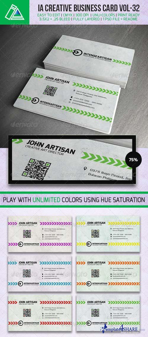 GraphicRiver IntenseArtisan BUSINESS CARD VOL.32