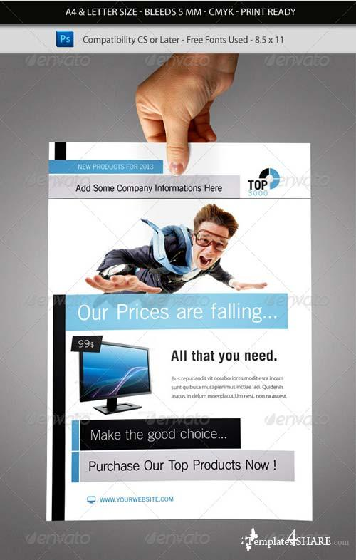 GraphicRiver Corporate & Business Commerce Flyer Template 5382893