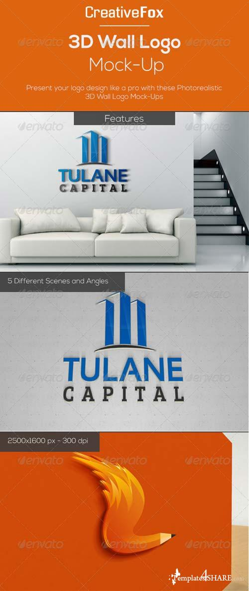 GraphicRiver 3D Wall Logo Mock-Up