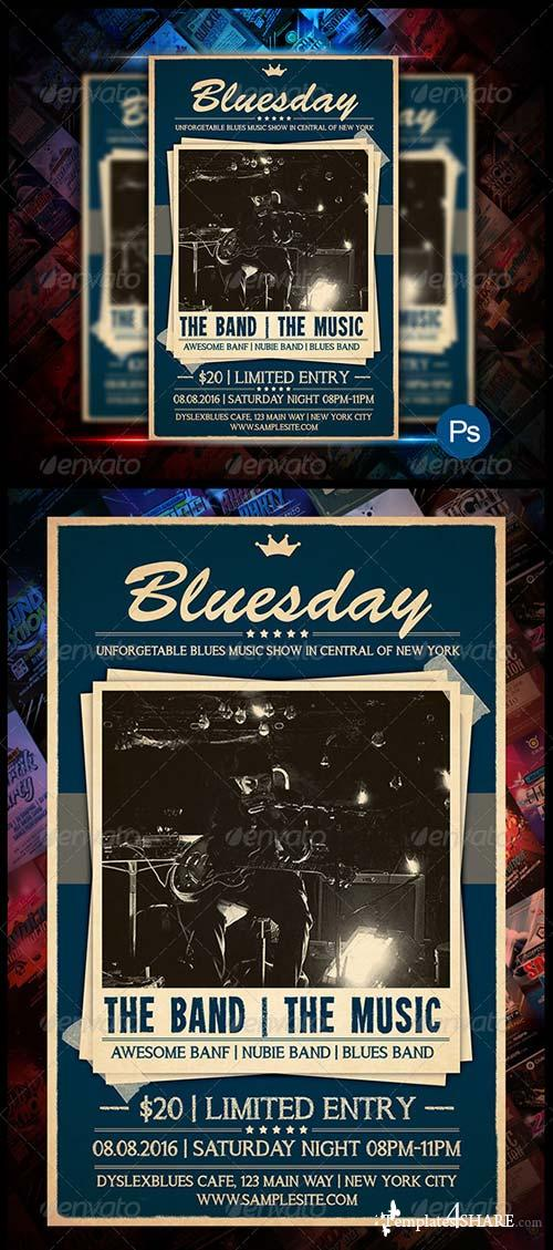 GraphicRiver Blues Concert Flyer