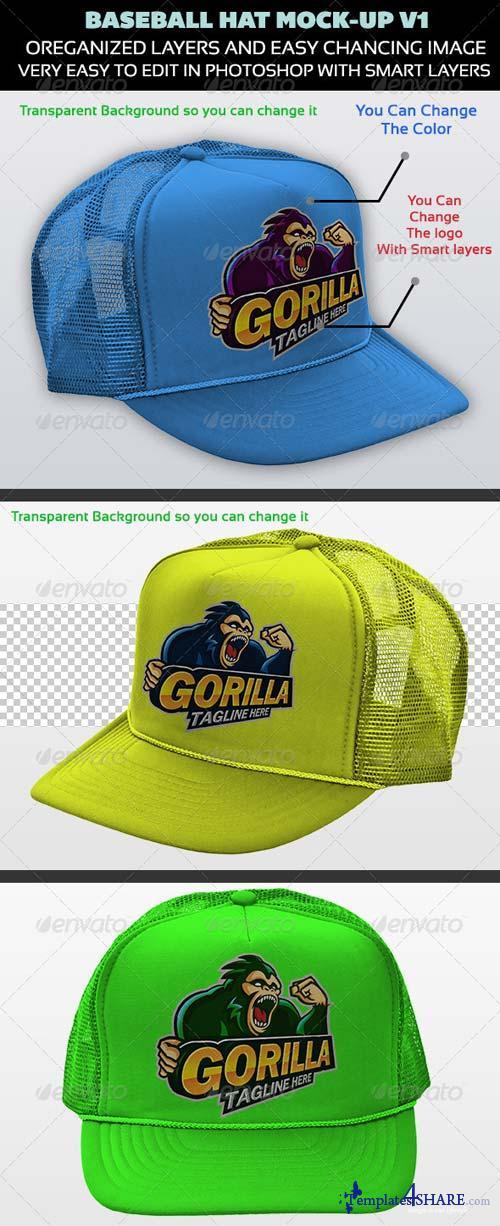 GraphicRiver Baseball Hat Mock-up V1