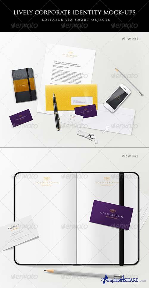 GraphicRiver Lively corporate stationery/branding mock-ups