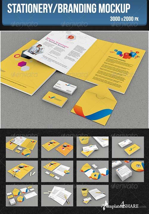 GraphicRiver Stationery/Branding Mockup 5272681