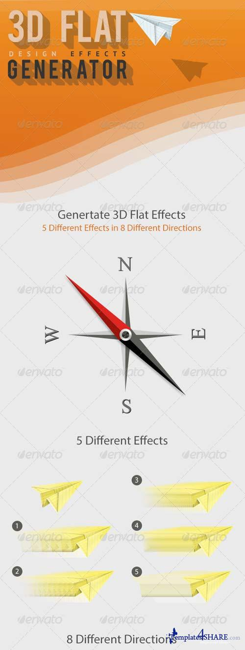 GraphicRiver 3D Flat Generator