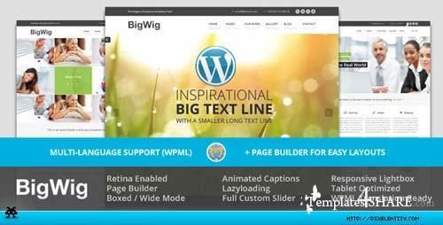 ThemeForest - BigWig - Modern Corporate Retina WordPress Theme
