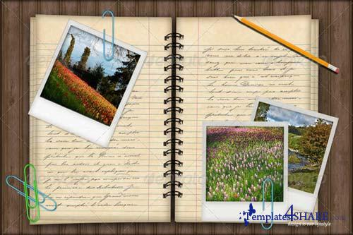 GraphicRiver Notebook Photo Template Background