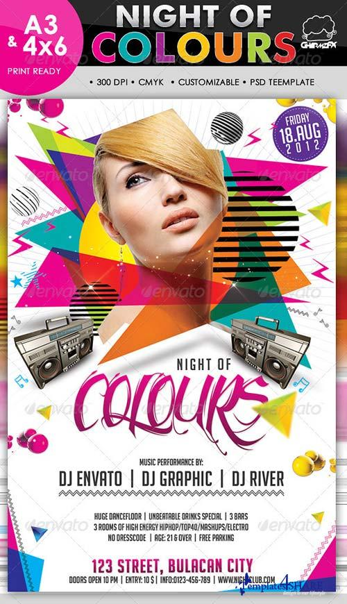 GraphicRiver Night Of Colours Flyer Template