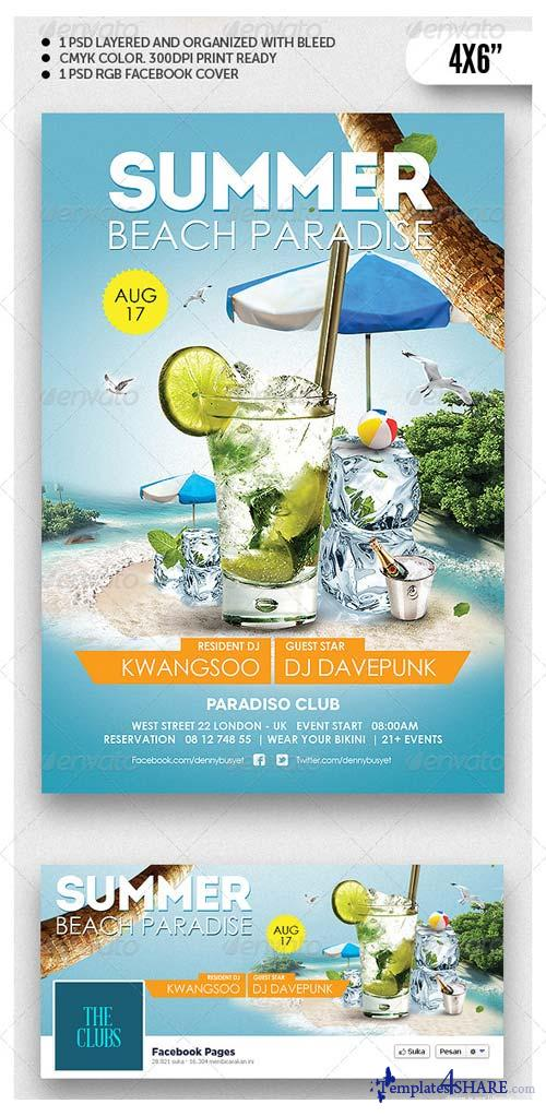 GraphicRiver Summer Beach Paradise Flyer Template
