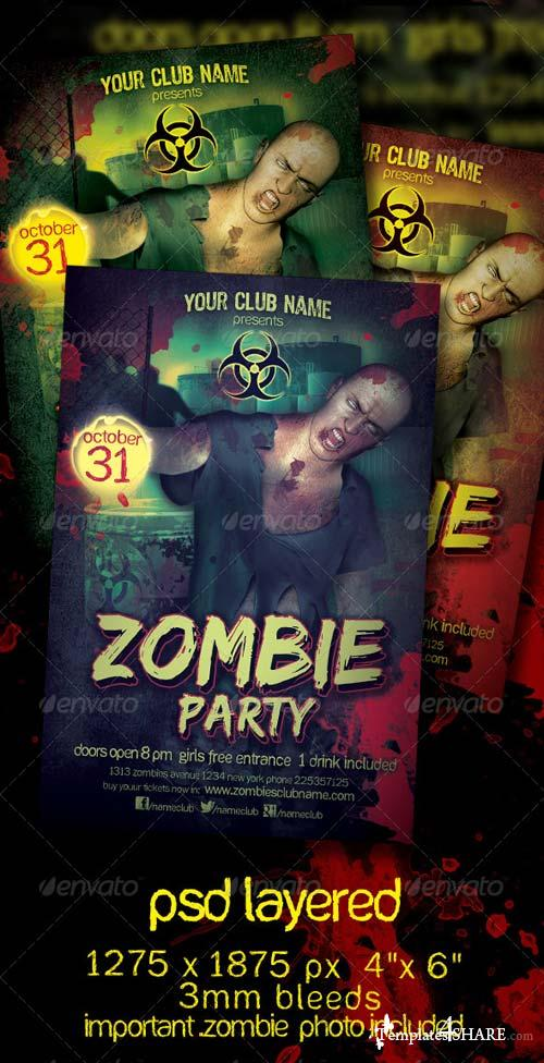 GraphicRiver Zombie Party Flyer Template
