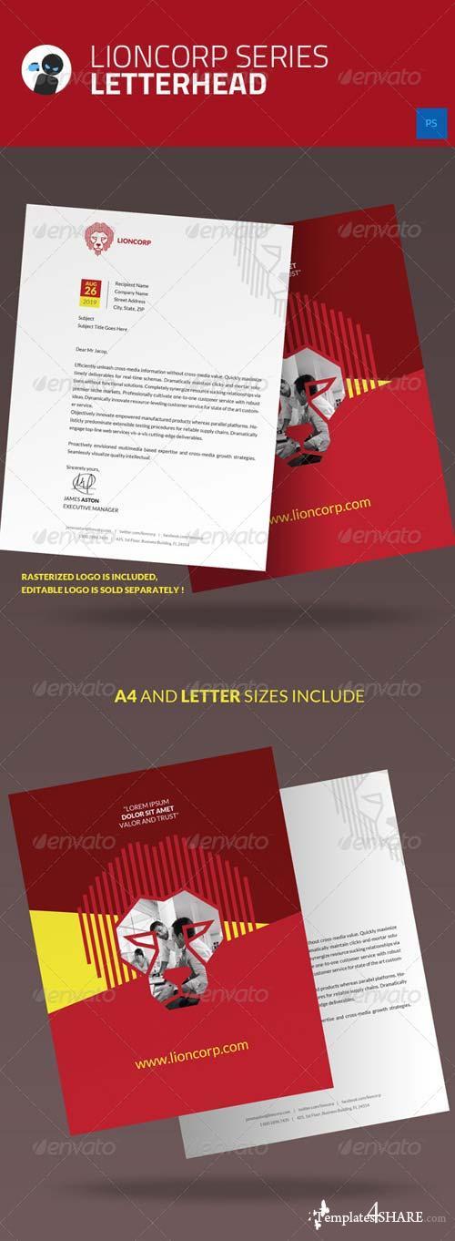 GraphicRiver Lioncorp Series - Letterhead