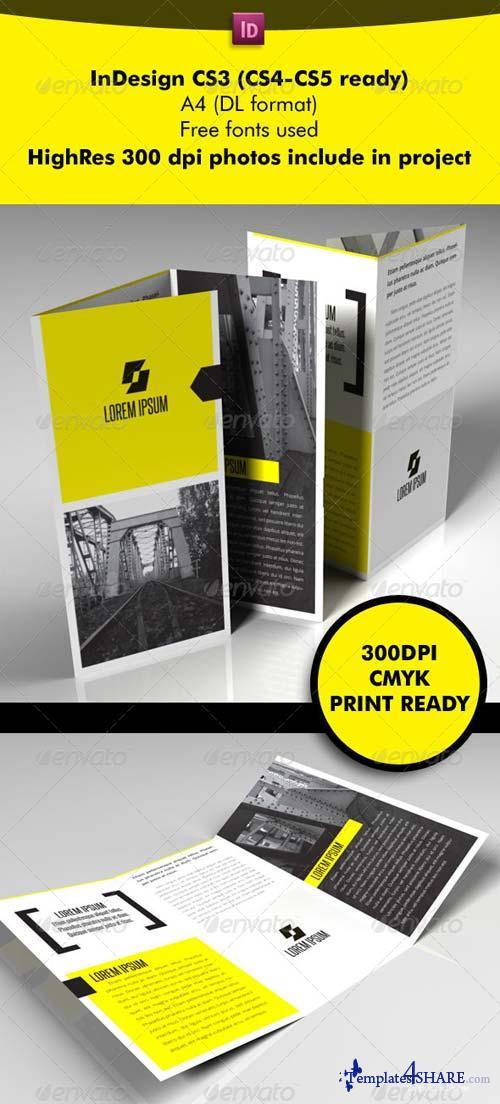 GraphicRiver Yellow Square 3-Fold