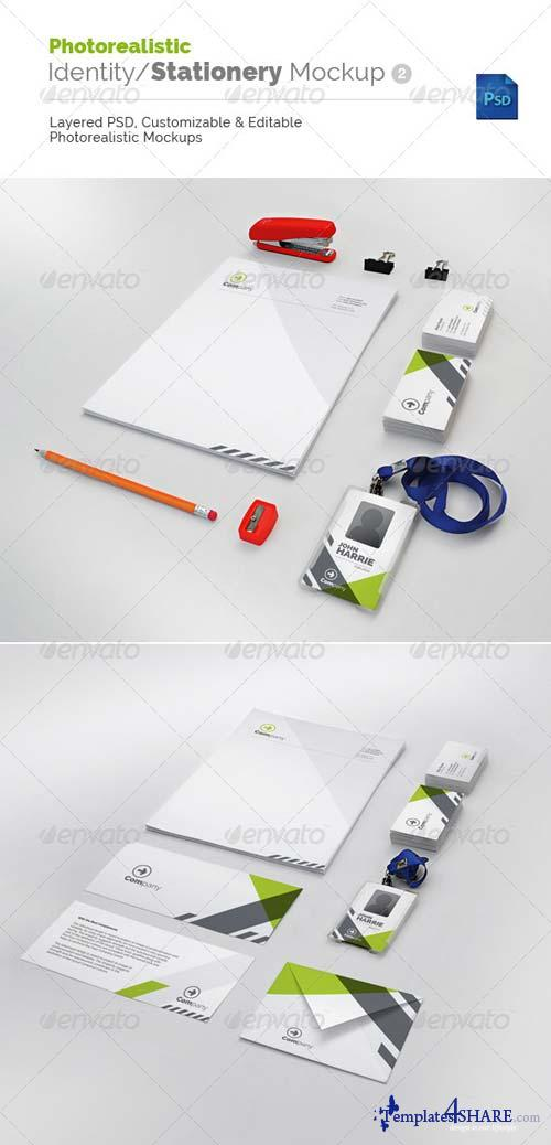 GraphicRiver Photorealistic Identity/Stationery Mockup v2